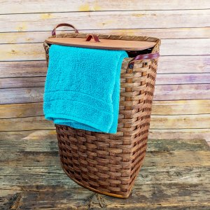 Large Corner Hamper Basket Brown