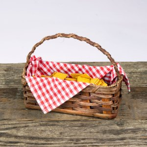 Cracker Basket with Handle Brown
