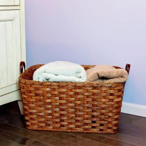 Large Laundry Basket Brown