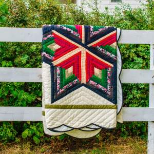 Amish and Mennonite Made Quilts - Farmhouse Flavors/Star of Wonder with scalloped border
