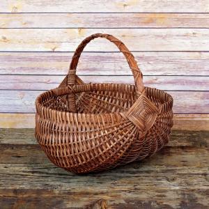 Large Regular Egg Basket Brown