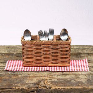 Silverware Basket Brown