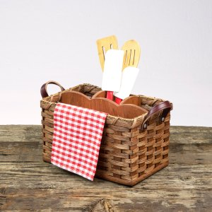 Utensil Basket Brown