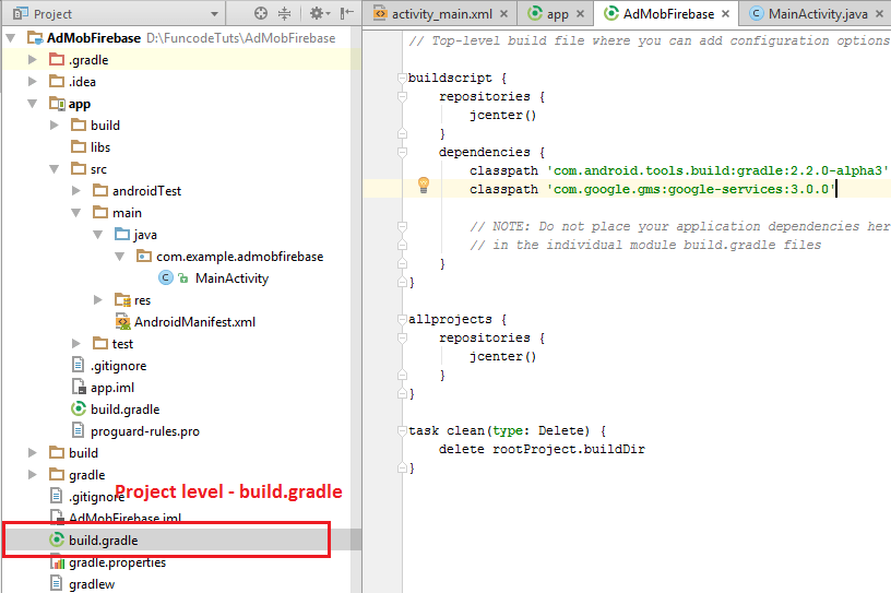 Project Level Build Gradle