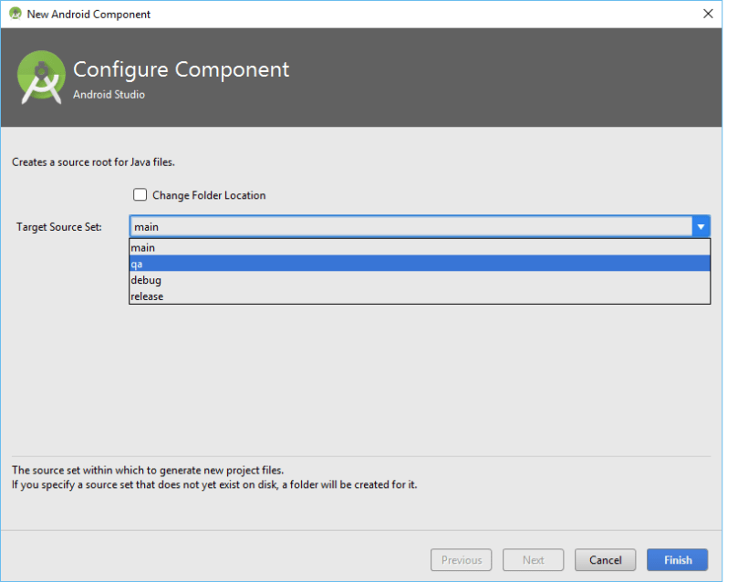 Select QA Source Set