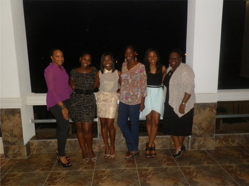 Group shot at Flavours Restaurant, Anguilla