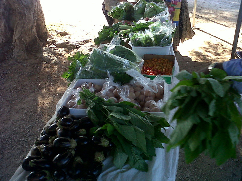 Fresh locally grown vegetables in Anguilla