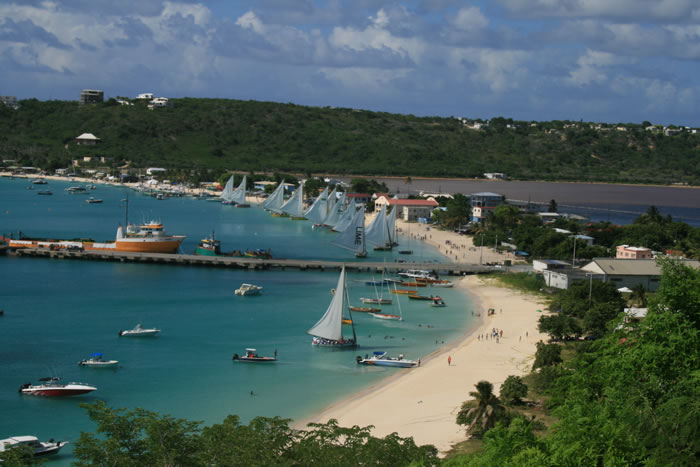 View from La Vue overlooking Sandy Ground, Anguilla
