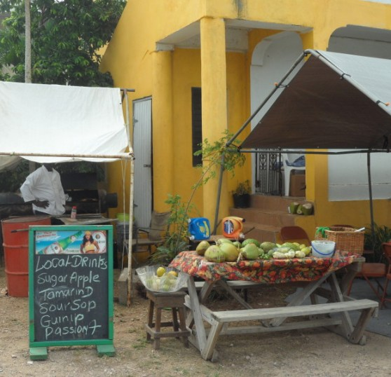 Fruit, vegetable and local drinks stalls, Anguilla