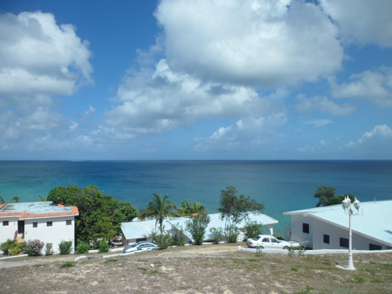 View overlooking Masara Resort and the sea, Anguilla