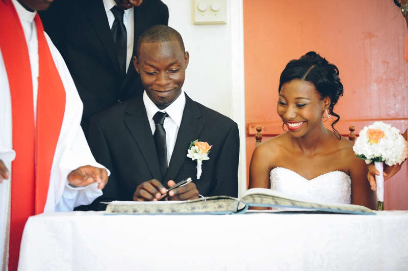 My Anguilla Wedding Pictures - Signing - It's Official