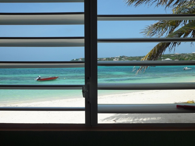 View through grade 6 window at the Vivien Vanterpool Primary School, Anguilla