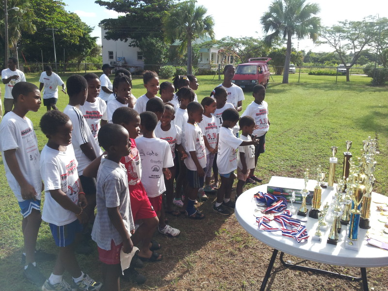 Some excited participants waiting for the trophy distribution