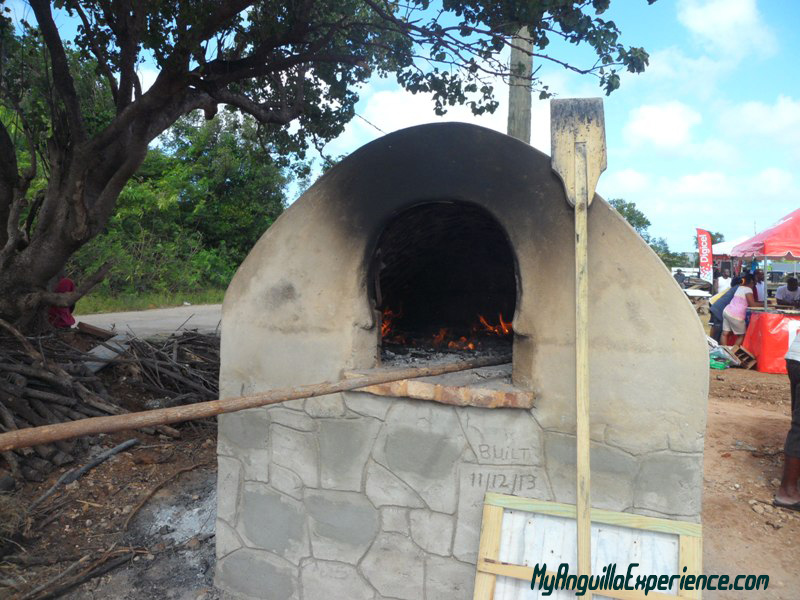 Rock oven at Fair in South Hill, Anguilla