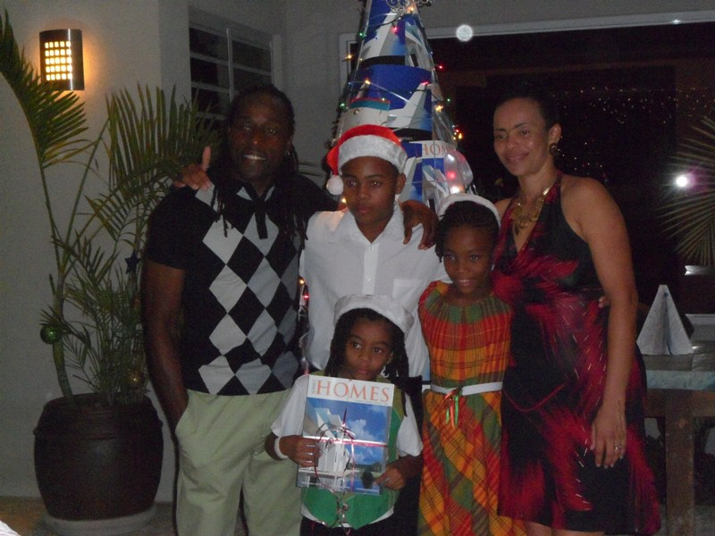 The 'Edwards' Family at launch of Sunset Homes magazine