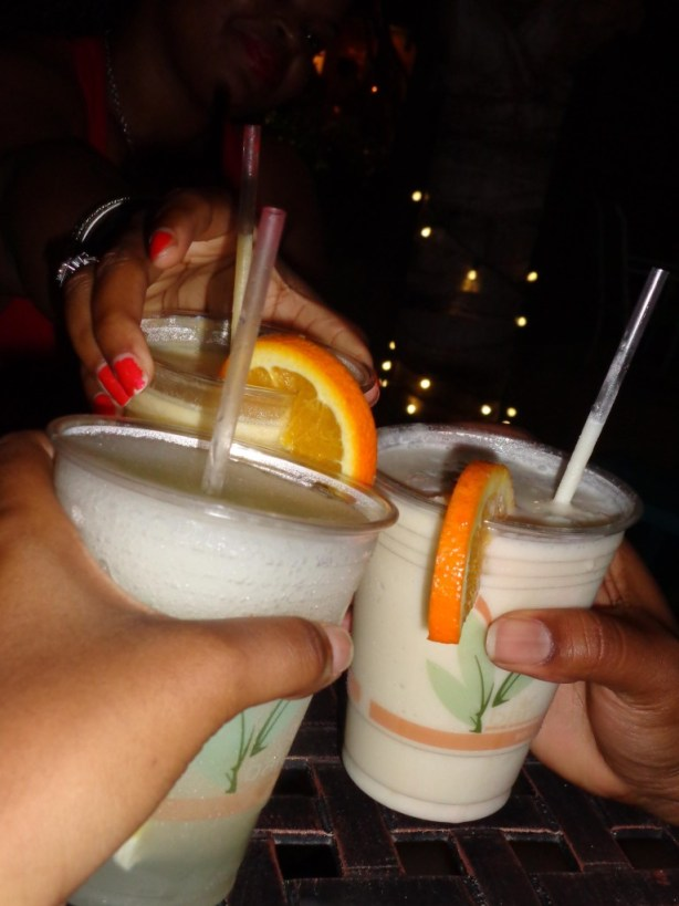 Drinks at Blanchards Beach Shack, Anguilla