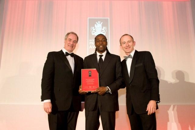 Sugar George Receiving Award