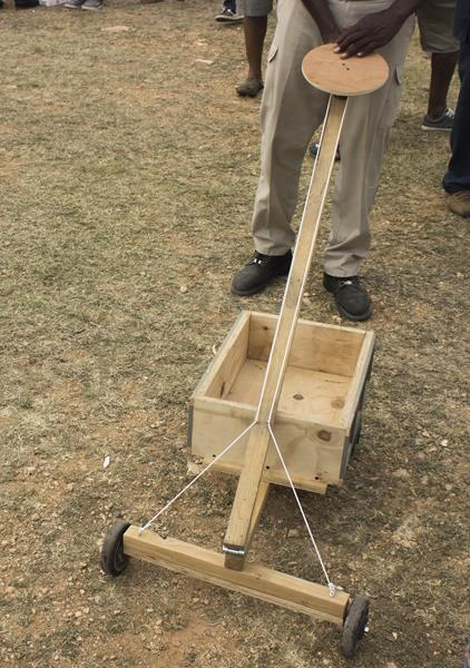 Homemade Hand cart at Welches Village fest Anguilla