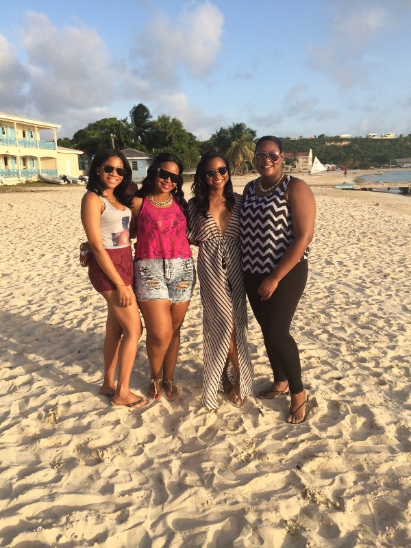 Sherise and friends, Sandy Ground, Anguilla