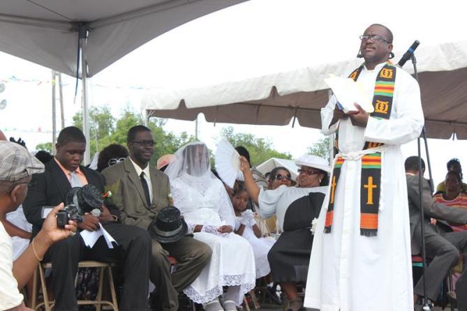 Wedding actors at Welches Village fest Anguilla