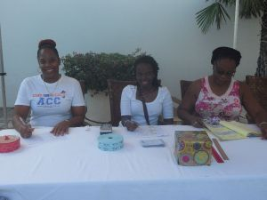 The ladies at the Registration Desk