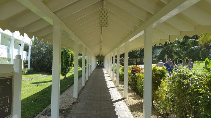 Walkway at Hotel