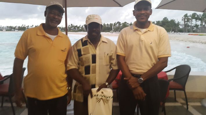 Wilmoth Hodge, President and other Executive Members of the Anguilla Taxi Drivers Association