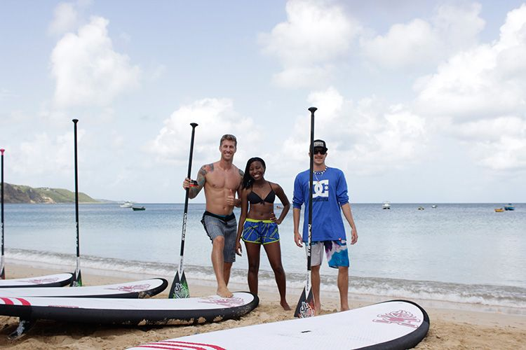 Paddle boarding with Anguilla Water Sports