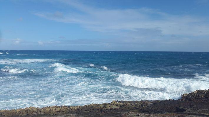 Hiking on Anguilla's coast