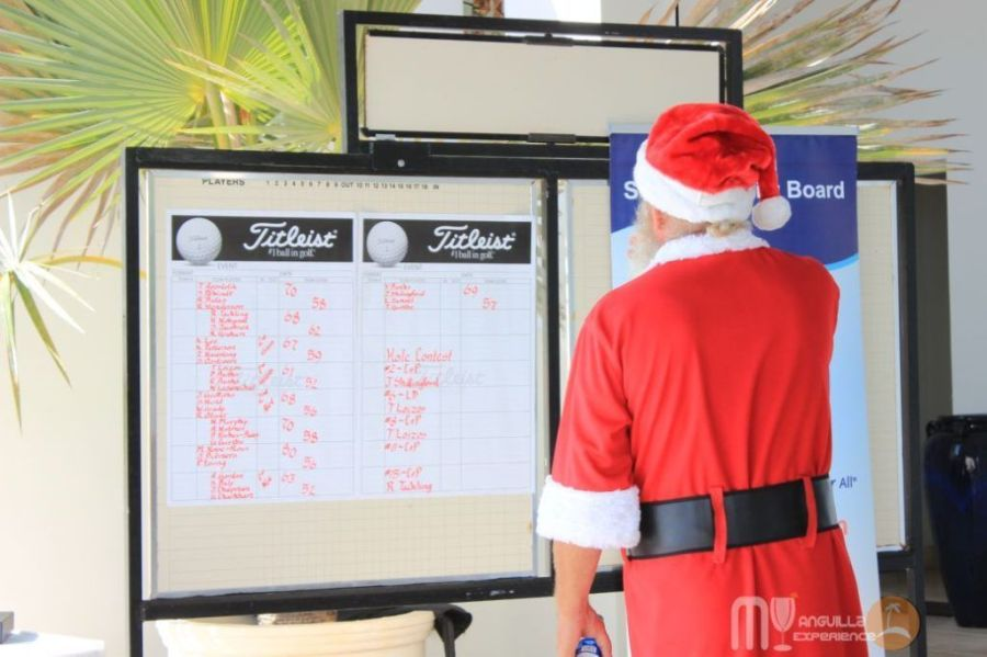 Santa waiting for the Scores