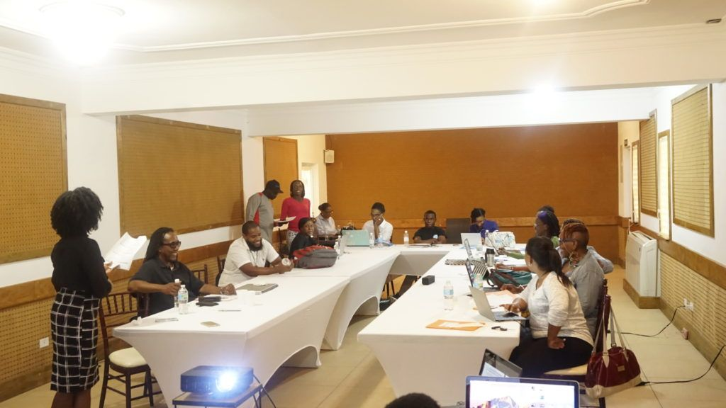 Participants at Blogging workshop