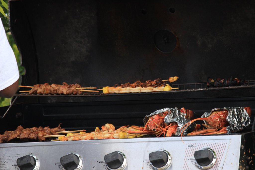 Food to go on the grill