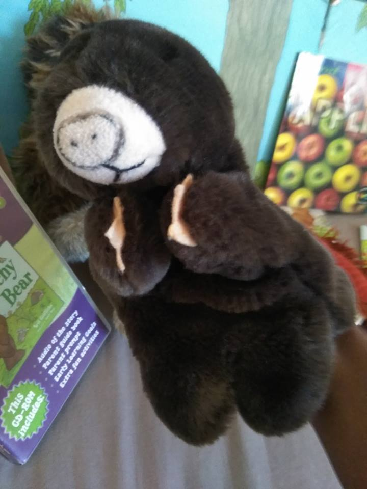 Mole Puppet in Story Sack