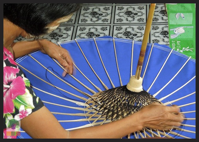Traditional Burmese Parasols