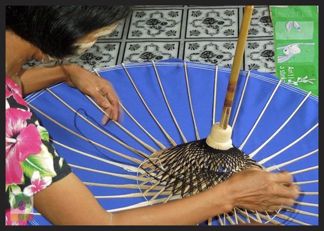 Burmese Bamboo Parasol Workshop - Pathein - Myanmar (Burma) 5