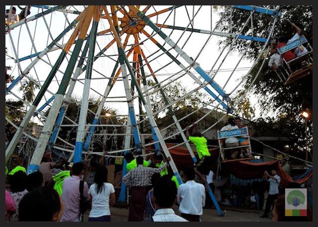 Big wheel funfair Karen new year festival at Insein Myanmar 3