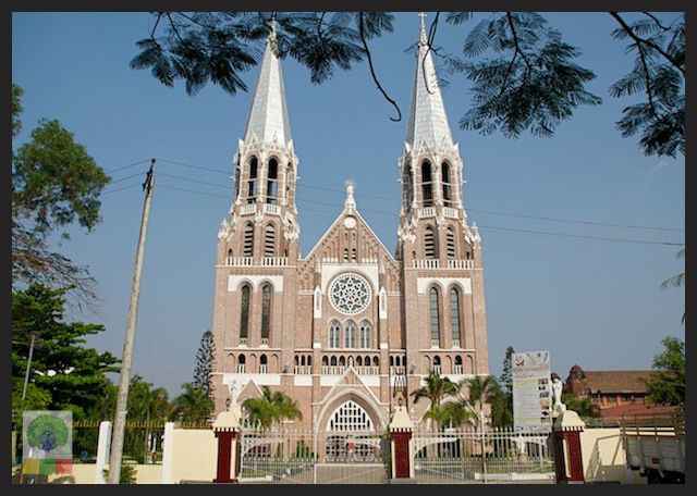 Saint Mary's Catholic Cathedral in Yangon - Myanmar_2