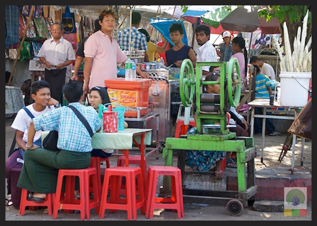 Sugar Cane Juice Yangon Myanmar 7