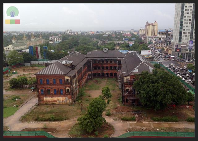 Former Myanmar Railway Headquarters - Colonial Myanmar 2
