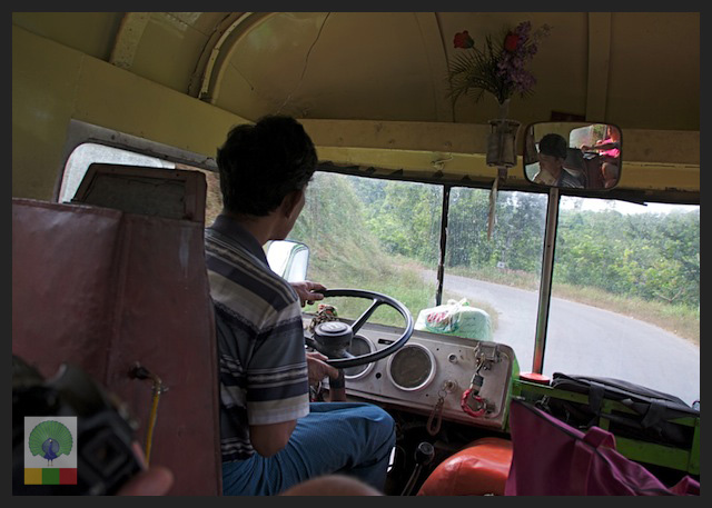 Local Bus Trip from Ngwe Saung Beach to Pathein - Myanmar (Burma) 6