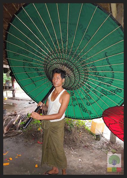 Bamboo Burmese Parasol - Myanmar (Burma) 2