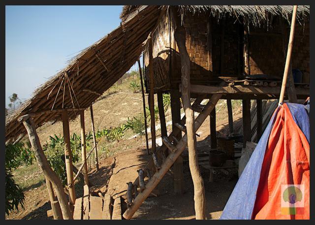 Bamboo Hut Stairs - Myanmar (Burma)