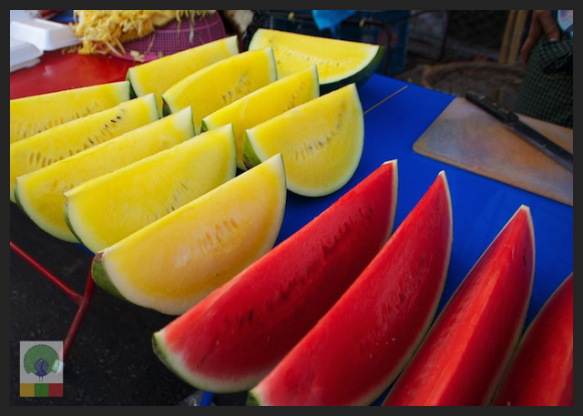 Red and Yellow Watermelon - Myanmar (Burma)