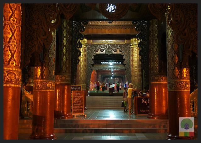 Shwedagon Pagoda by night - Stairway - Yangon - Myanmar (Burma)