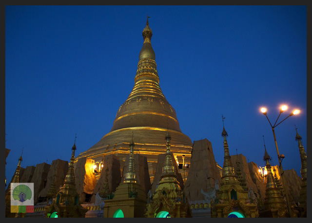 Shwedagon Pagoda by Night, Yangon