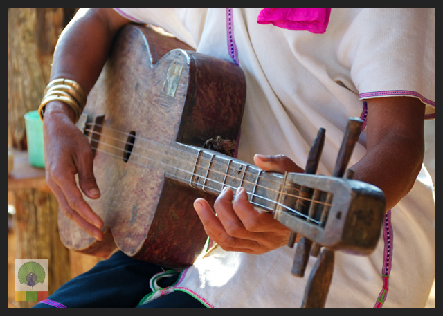 Padaung Ethnic Group Guitar - near Loikaw - Kayah State - Myanmar Travel Essentials
