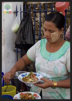Street Snack Tour - Samosa Salad 4 - Myanmar Travel Essentials