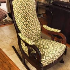 Arm Chair Rocker Outdoor Hanging Egg With Stand I Reupholstered A Rocking For Neighbor. Can Anyone Give Us Any Info... | My Antique ...