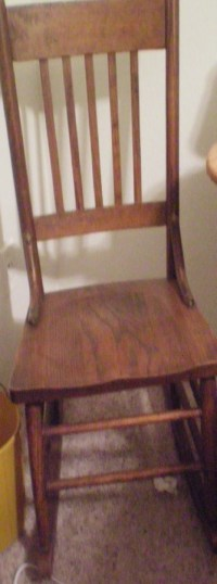 This Is A Plain Rocking Chair That Belonged To My Great ...