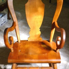 Antique Rocking Chairs Value High For Baby Tell City #684 1/2 Chair With Andover Finish #48 | My Furniture Collection